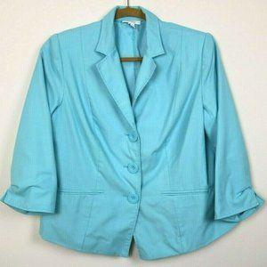 Dressbarn Womens Blazer Long Sleeve Lined Pockets